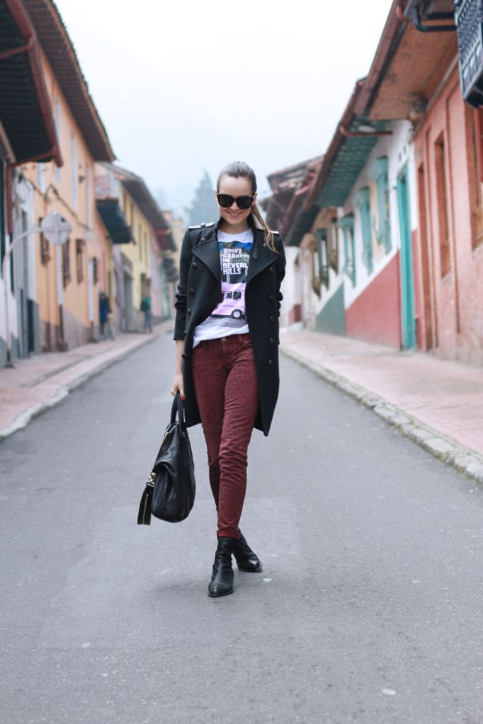 :) What is not to like about this! Outfit is awesome, the picture was taken at La Candelaria, Bogota Colombia and she looks stunning  - love it!
