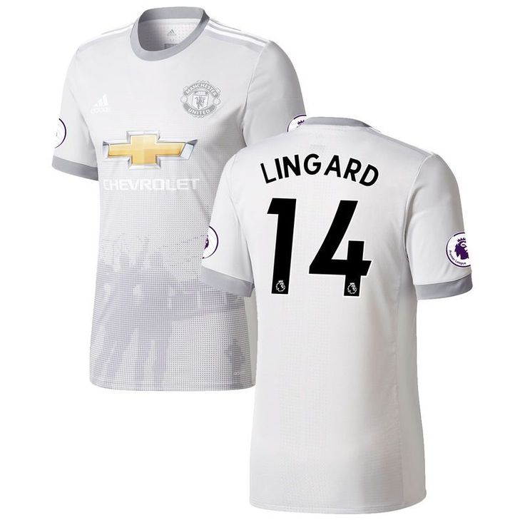 Jesse Lingard Manchester United adidas 2017/18 Third Authentic Patch Jersey - Gray