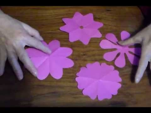 Como cortar flores de 8 pétalos -  How to cut 8 petals flowers
