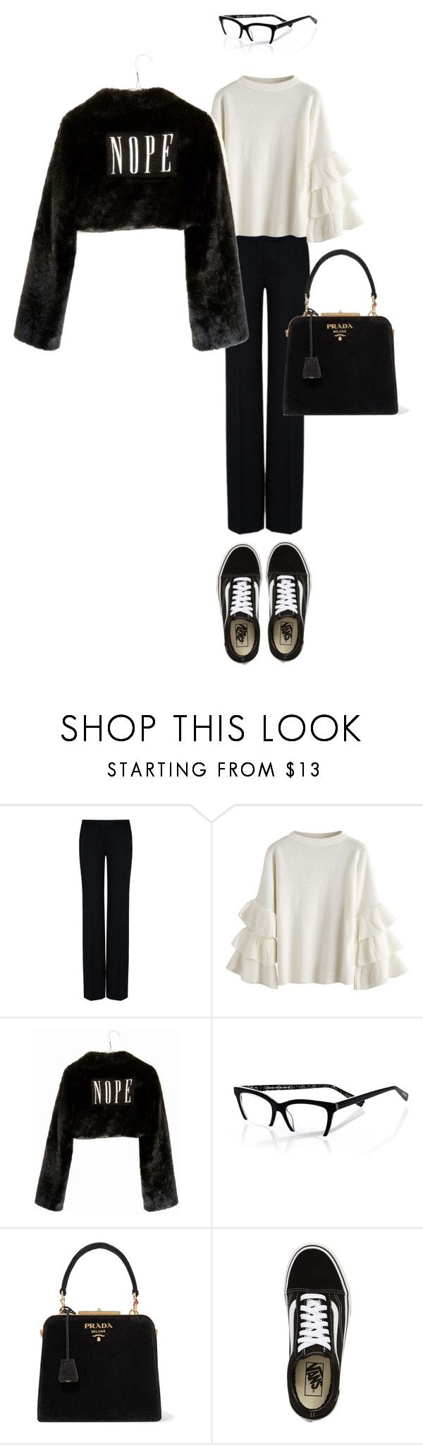 """it made me feel so good"" by leilaprins ❤ liked on Polyvore featuring STELLA McCARTNEY, Wet Seal, eyebobs, Prada and Vans"