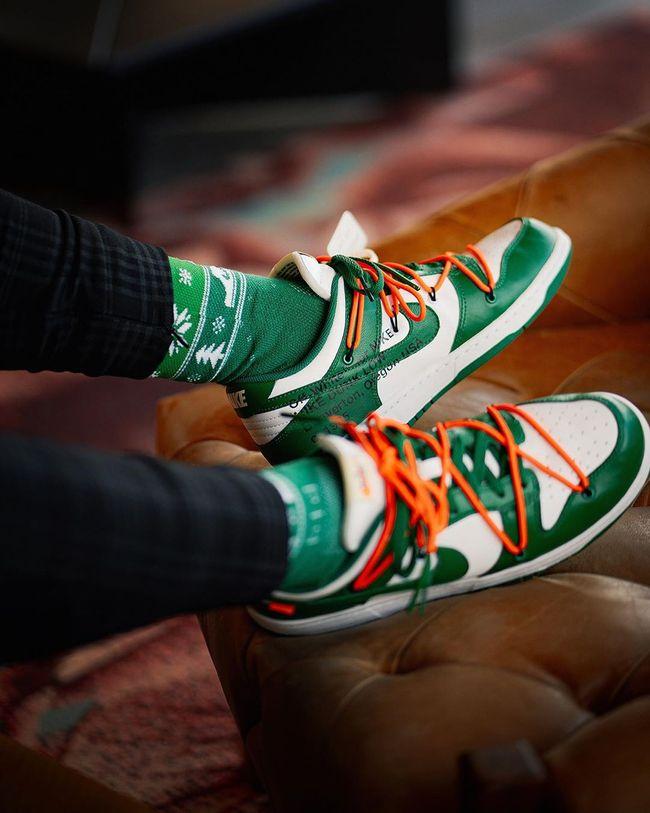 Dunk Low Off White Pine Green en 2020 | Nike dunks, Cuir
