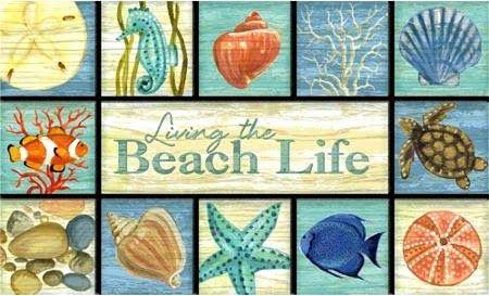 Beach Life Quote Doormat: http://ocean-beach-quotes.blogspot.ch/2015/03/living-beach-life-doormat.html