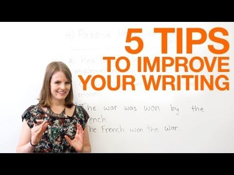 5 tips to improve your writing - YouTube
