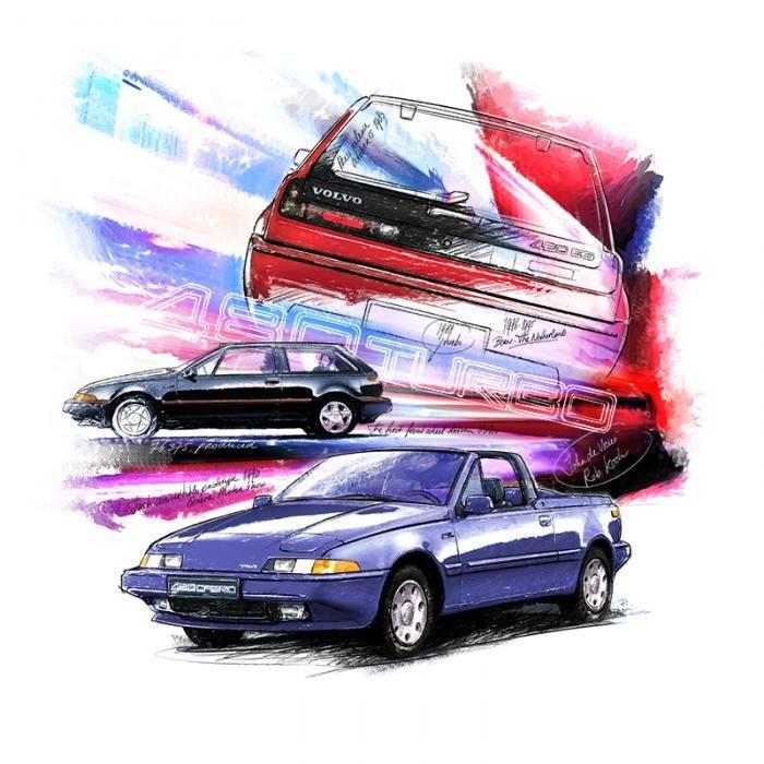 Volvo 480 (1985) | Classiccar-art