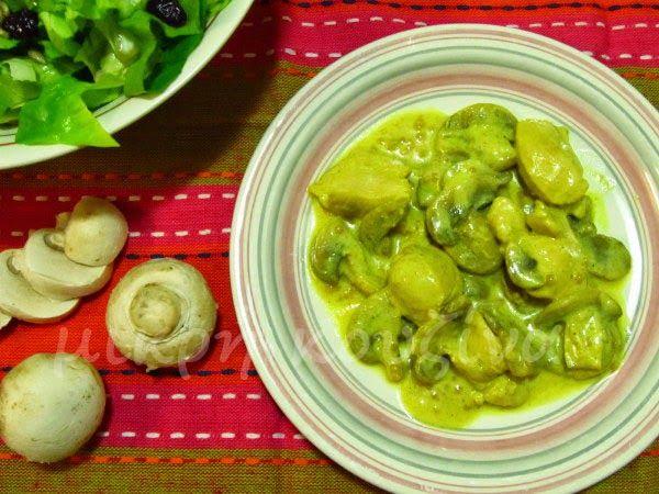 μικρή κουζίνα: Κοτόπουλο λεμονάτο με μανιτάρια και γιαούρτι
