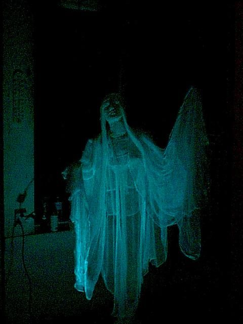 Halloween decorations diy the flying phantom click for Ghost decoration ideas