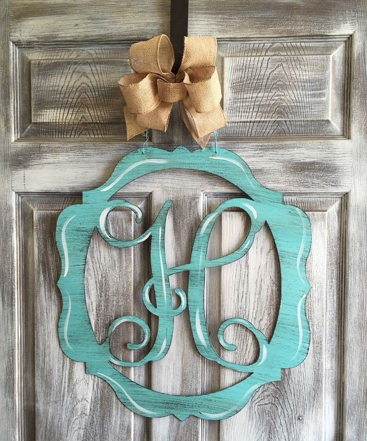 Another great find on #zulily! Aqua Oval Initial Door Hanger by Steel Southern Design #zulilyfinds