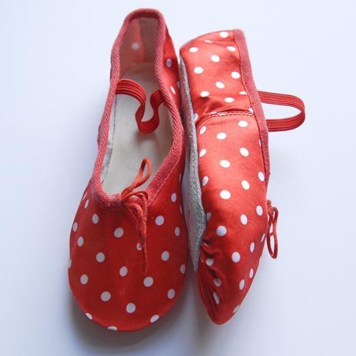 polka dot ballet shoes