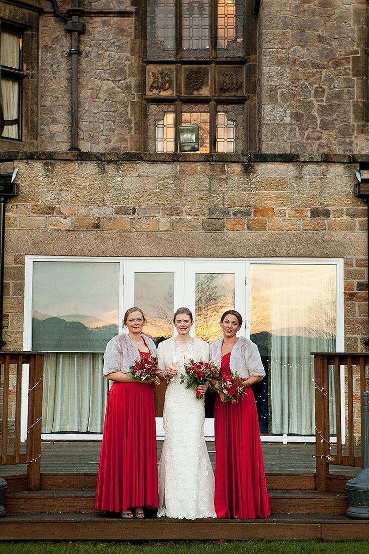 454 best wedding images on pinterest butch fashion tomboy style cabernet red twobirds bridesmaid dresses for a christmas wedding a real wedding featured on brides ombrellifo Image collections