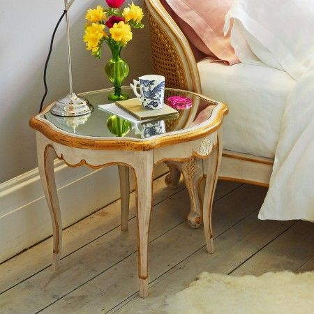 Mirror top bedside table