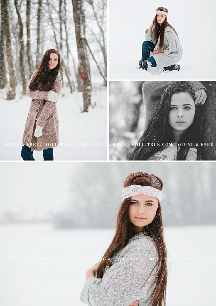 Oregon Senior Portrait Photographer, Holli True, photographs Class of 2014 high school senior, Grace, in the snow in Eugene.