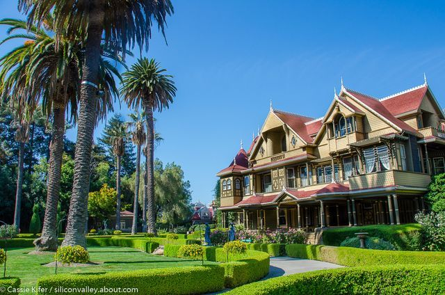 A photo tour of the Winchestery Mystery House. Also, a visitors guide including tours, tickets, and hours.: About the Winchester Mystery House