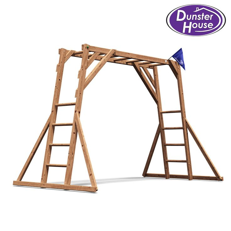 Details about kids monkey bars childrens wooden climbing
