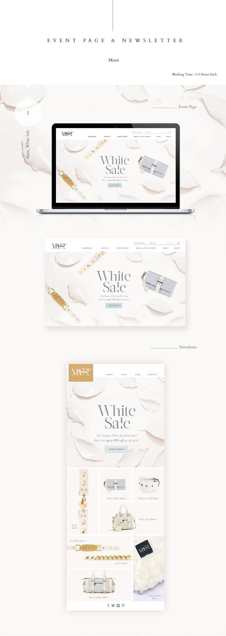 Massi_Event Page/Newsletter on Behance