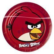 Naast borden, bekers, hoedjes, ballonen ook verjaardagskaarsjes van Angry birds