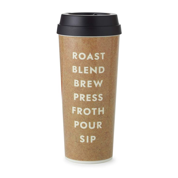 Kate Spade New York® Roast Blend Brew Thermal Mug   A travel mug accented with a little coffee talk. #dorm #student