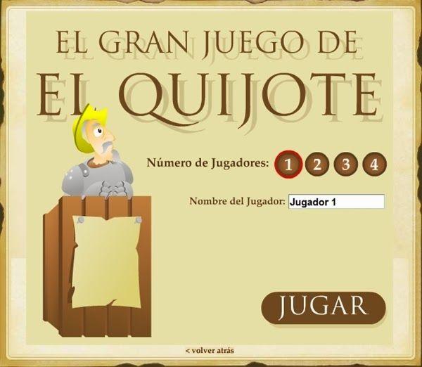 """""""El gran juego del Quijote"""", de la Junta de Castilla y León, es un juego que pone a prueba tu conocimento sobre Don Quijote de La Mancha y su autor, Miguel de Cervantes."""