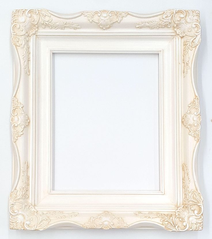 "4"" Ornate Baroque White Picture Frame Inside Sizes:  5x7 8x10 11x14 16x20 20x24 24x36 by ILuvBelleArte on Etsy https://www.etsy.com/listing/549488795/4-ornate-baroque-white-picture-frame"