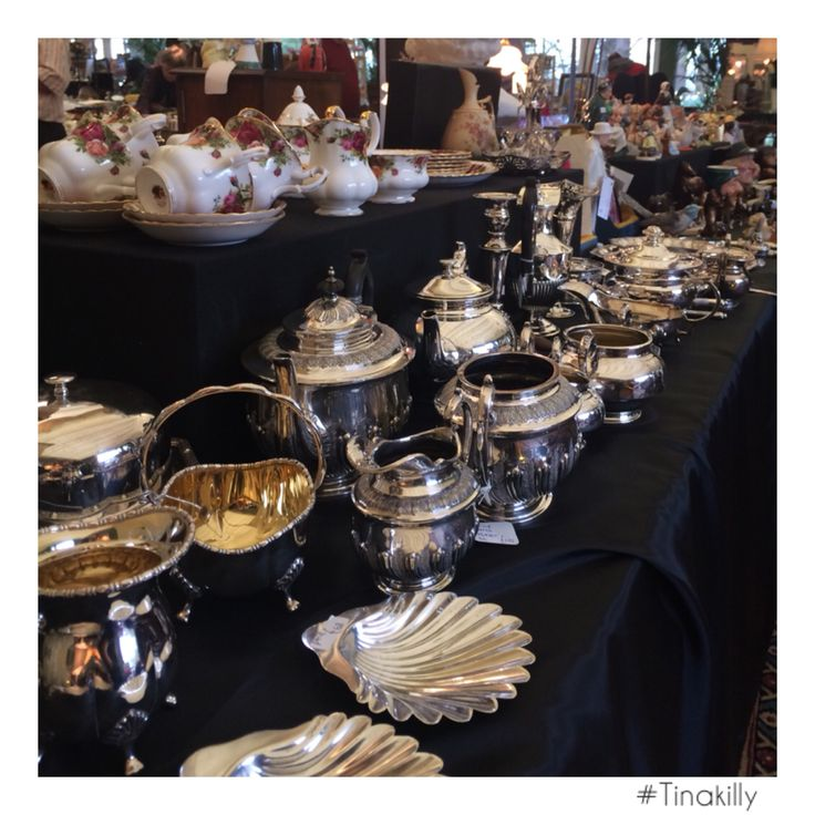 Someone was busy polishing the silver! ⚡️ #Tinakilly #TinakillyAntiquesFair #CountryHouseHotel #Antiques #GreatSuccess