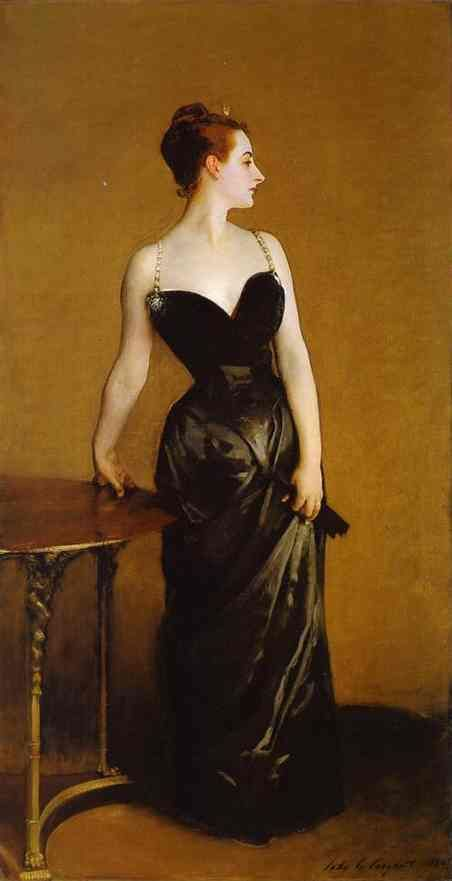 Sargent, John Singer Madame Pierre Gautreau (Madame X) 1884 Oil on canvas 82 1/2 x 43 1/4 in. Metropolitan Museum of Art, New York