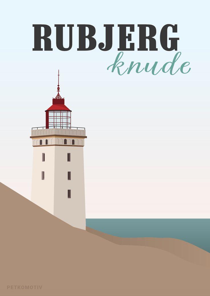 Rubjerg Knude plakat trykt på 170gr. offset (mat) papir.