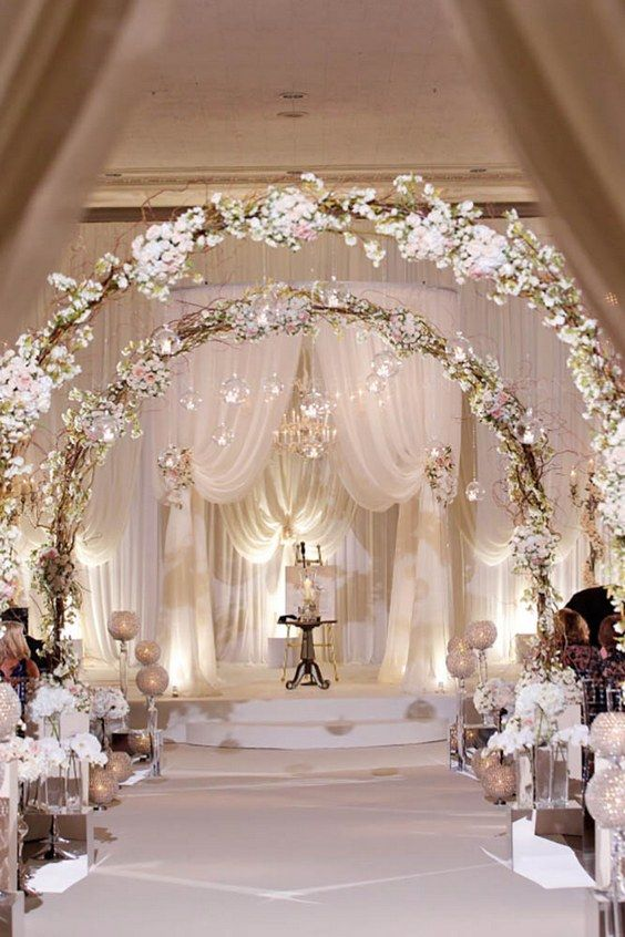 60 Simple Elegant All White Wedding Color Ideas Wedding Arches