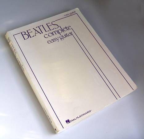 BEATLES COMPLETE EASY GUITAR SONGBOOK - $10 (BAY RIDGE, BROOKLYN 11209)  http://newyork.craigslist.org/brk/bks/4832018281.html