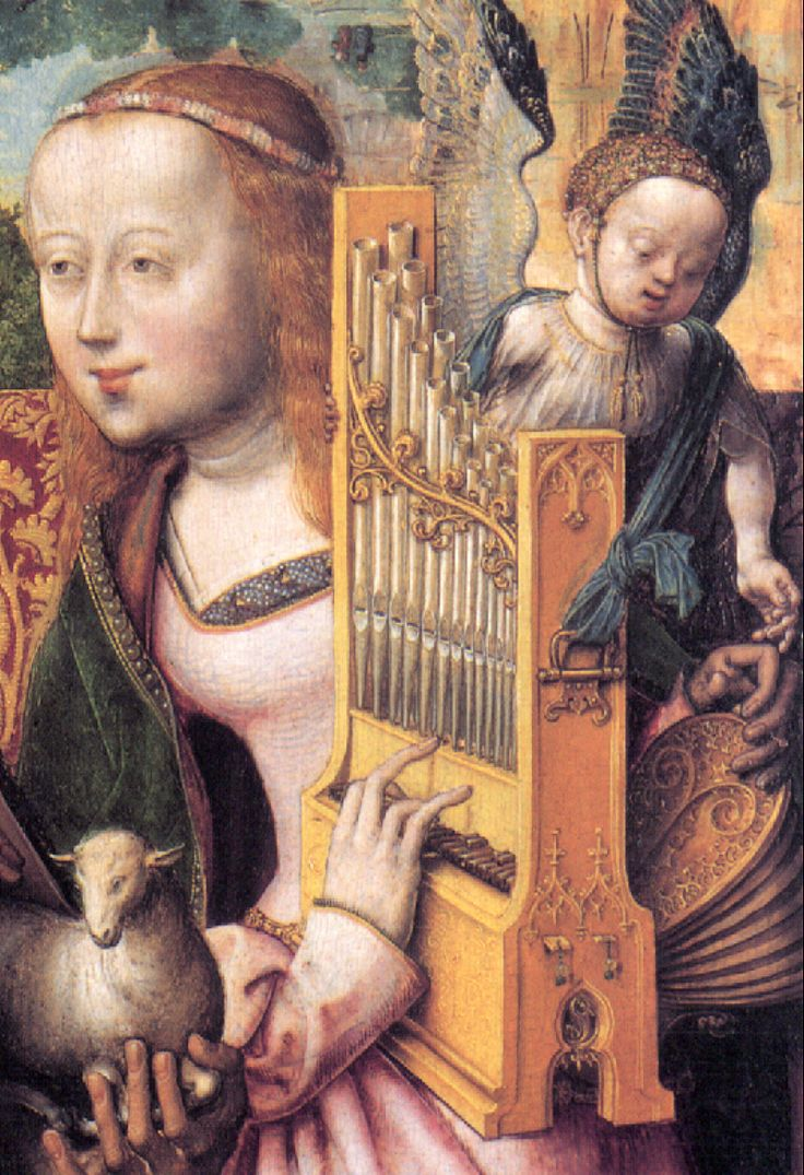 The portative organ. If anybody with a spare two thousand, seven hundred and thirty nine pounds wants to buy me one, go to the Early Music Shop website!