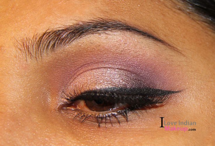 Check here to get this look : http://iloveindianmakeup.com/purple-taupe-party-eye-makeup-for-brown-eyes/