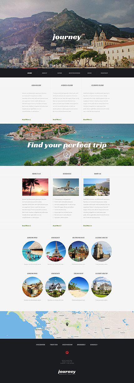 Travel Agency Responsive #WordPressTheme wordpress website template