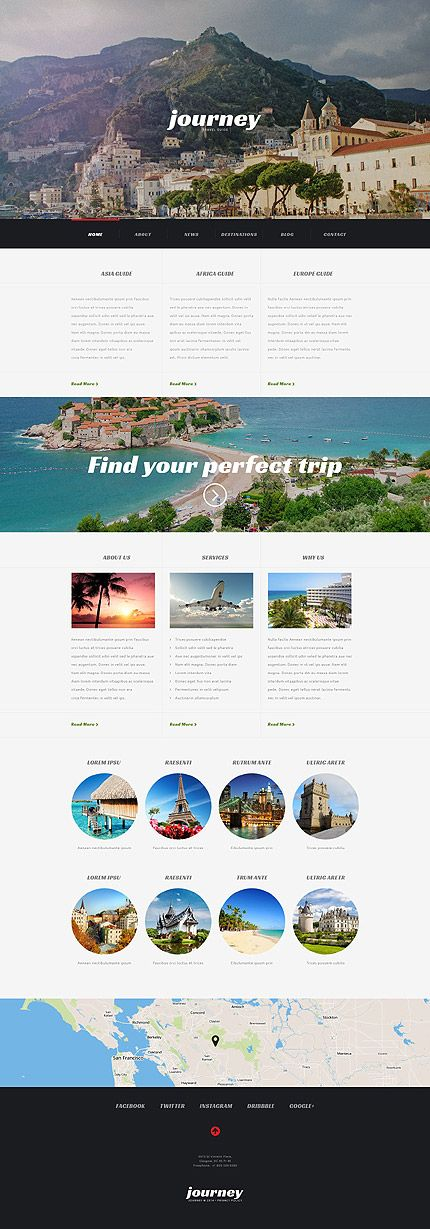 Travel Agency Responsive #WordPressTheme wordpress website template