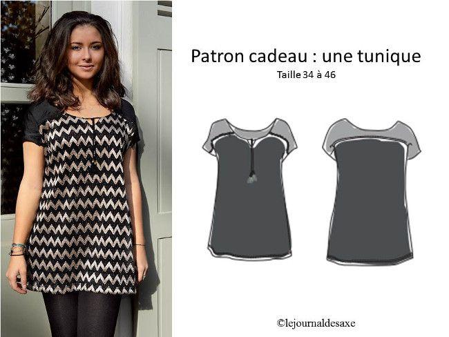16 PATRON GRATUIT TOP : Tee Shirt, Tunique, shirt ….
