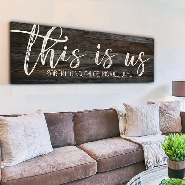 Personalized This Is Us Premium Panoramic Canvas Wall Art Gearden Family Wall Art Family Wall Decor Christian Decor