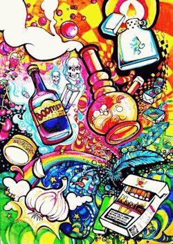 gif art trippy drugs weed bong lsd acid animated flashing illusion Joshuashake acid  trip disorienting