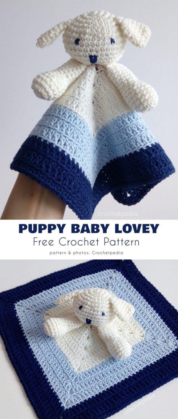 Puppy Baby Lovey kostenlose Häkelanleitung   – Tutorials