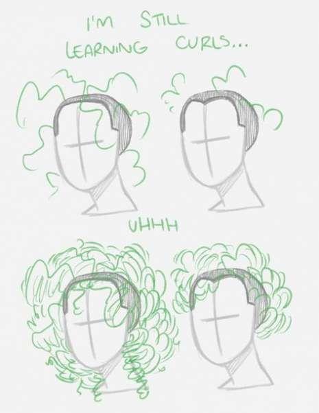 Croquis de mode tutoriel cheveux référence 40 idées   – Zeichnen