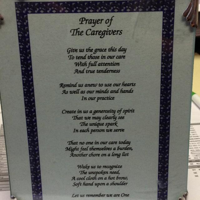 Prayer of a Caregiver | Quotes I Love | Pinterest | Prayer ...