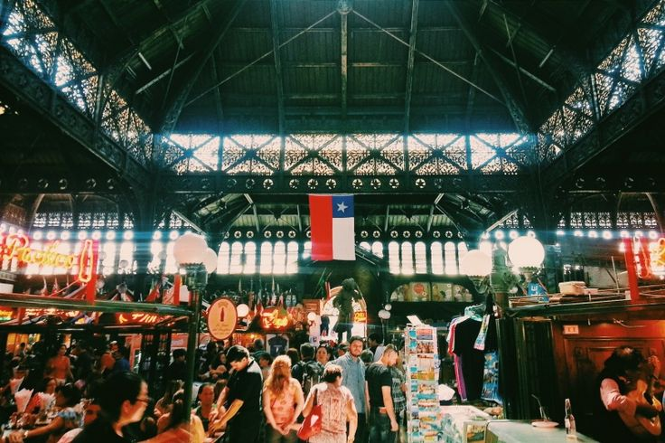 Day XIII   Central Market in Santiago de Chile.