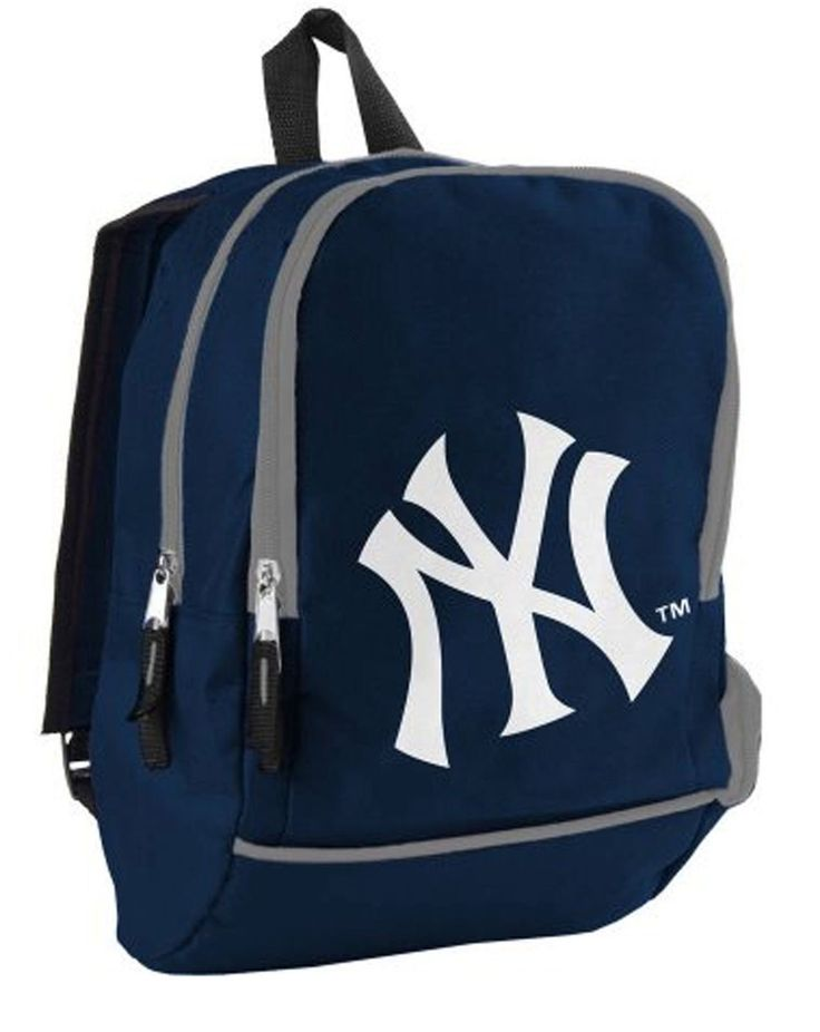 New York Yankees White Logo Baseball MLB Mini Blue Backpack Book Bag Tote xyz