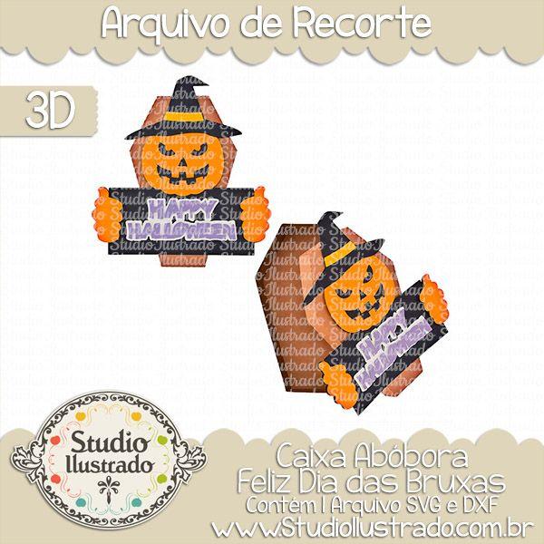 Pumpkin Happy Halloween Box, Caixa Abóbora Feliz Dia das Bruxas, Smash, Hat, Chapéu, Caixão, Túmulo, Coffin, Gift, Presente, Borda, Border, Smash, Bruxa, Abóbora, Witch, Pumpkin, Happy Halloween, Feliz Dia das Bruxas, Doçura ou Travessura, Trick or Treat, Medo, Fear, 3D, Projeto 3D, Caixa, Box, Silhouette, Arquivo de Recorte, DXF, SVG, PNG