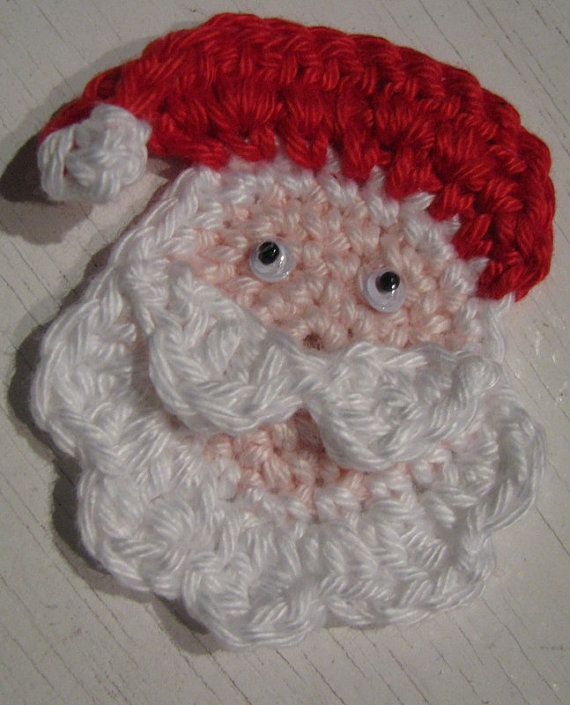 Crocheting Patterns For Santa Face images