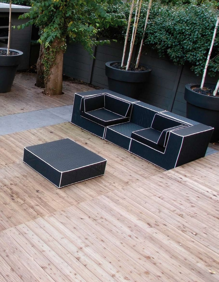 Black And White Outdoor Wicker Furniture – Haute Terasse By Borek