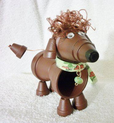 clay pot dachshund... for my garden next year!
