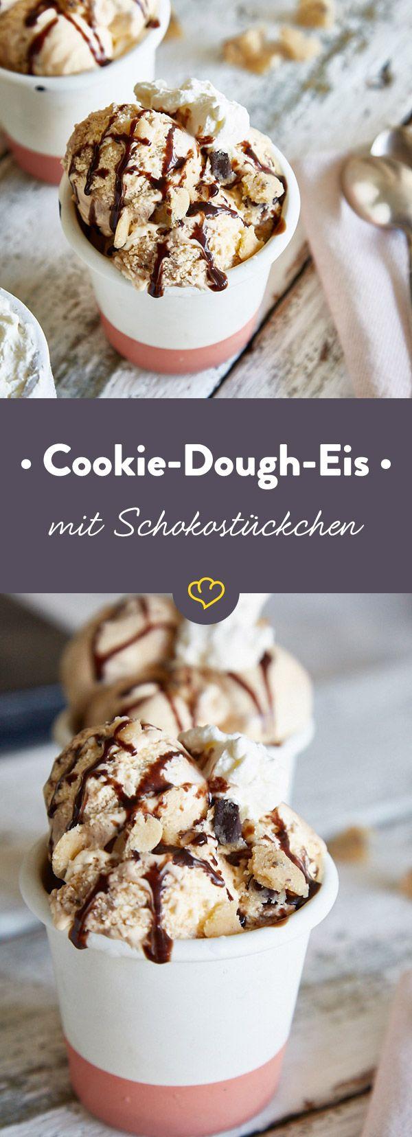 So wie du es kennst, nur besser: Extra cremiges Vanilleeis und genau so viel Cookie Dough, wie es dir passt. Schmeiß den Fernseher an, jetzt wird genossen!