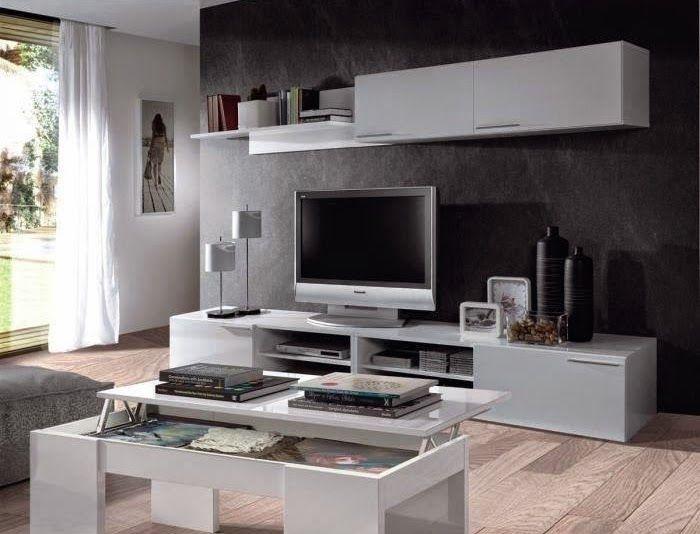 KENDRA Table Basse blanche plateau relevable decodesign / Décoration