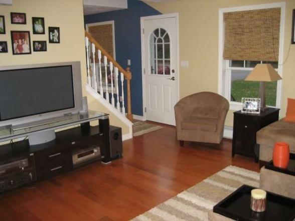 furniture placement idea | Small Cape Cod Living Room ...