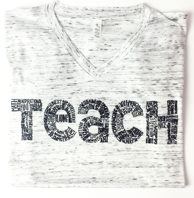 """PLEASE NOTE: THESE ARE A UNISEX FIT + WOMEN MAY PREFER TO SIZE DOWN """"A great teacher takes a hand, opens a mind, and touches a heart"""" You will love our new Teach tees! They are perfect for any teacher"""