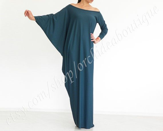 Offshoulder asymmetric maxi tunic dress summer by orchideaboutique, $65.00