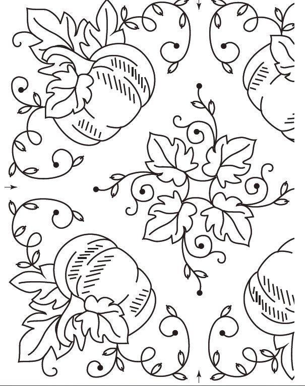 Free Pumpkin Harvest Embroidery Pattern