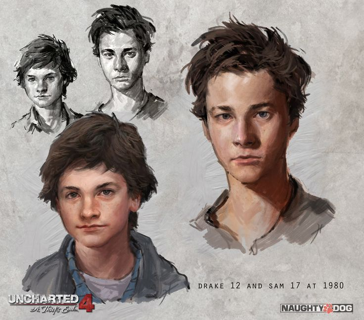 ArtStation - Uncharted 4: Young Sam and Drake , Hyoung Nam